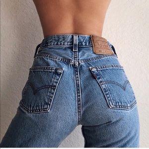 Vintage Levi's 550 High Rise Mom Jeans Rare 25
